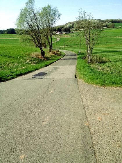 Zum Bostalsee hin steigt der Weg minimal an