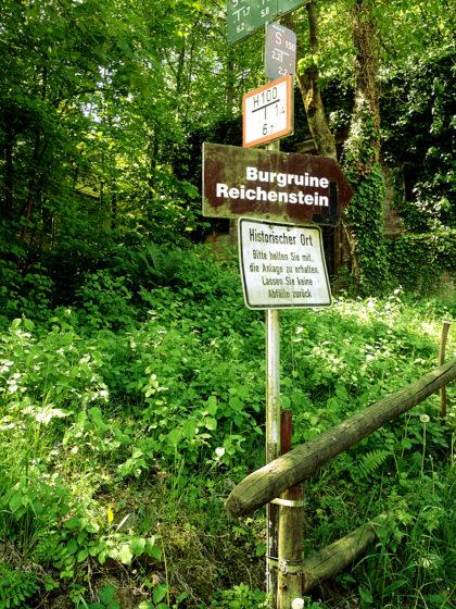 Auf dem Weg zur Burgruine Reichenstein in Neckargemünd