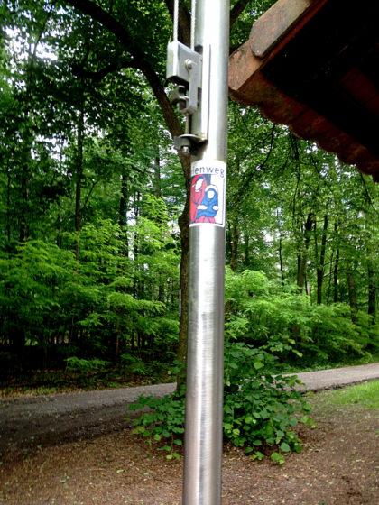 Unübersehbare Wandersymbole sind immer von Vorteil