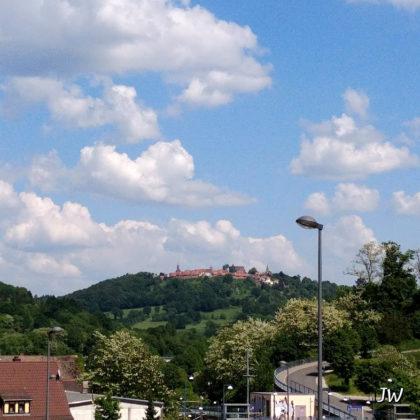 Die Burgfeste Dilsberg von weitem