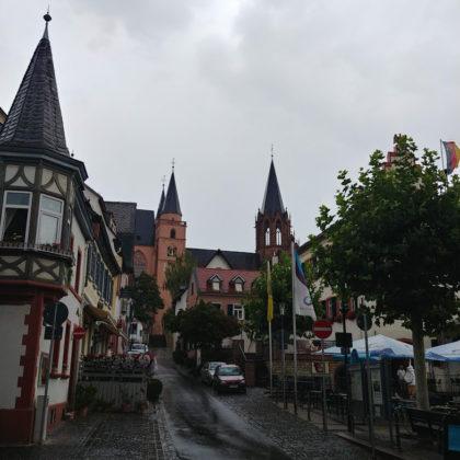 Blick auf die Katharinenkirche, eine im gotischen Stil ab etwa dem 13. Jahrhundert erbaute Kirche