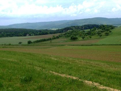 Ich hocke hinter Streit auf einer Bank und lasse in aller Ruhe den Blick über die Landschaft schweifen