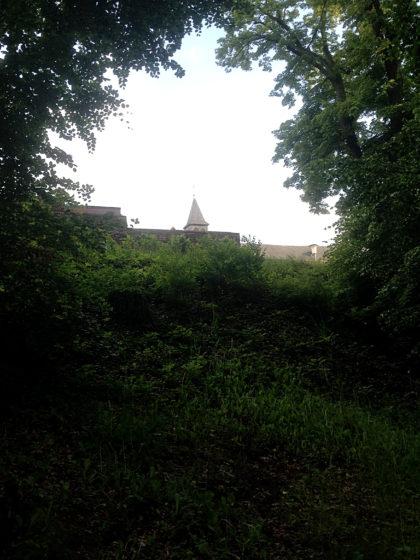 Nur ein kurzer Blick auf das Kloster, dann wandere ich weiter