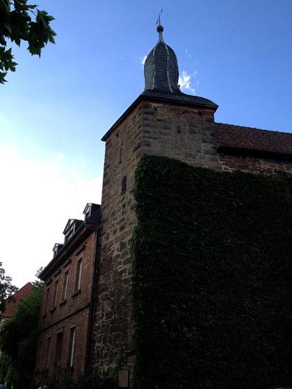 Der Blaue Turm, Teil der alten Stadtbefestigung