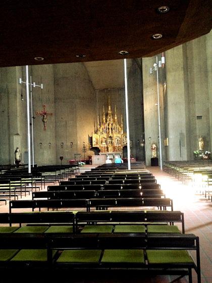 Das Innere der ab 1680 erbauten Kirche