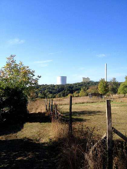 Blick auf das Kraftwerk Bexbach
