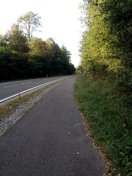 Landstraße kurz vor Ottweiler