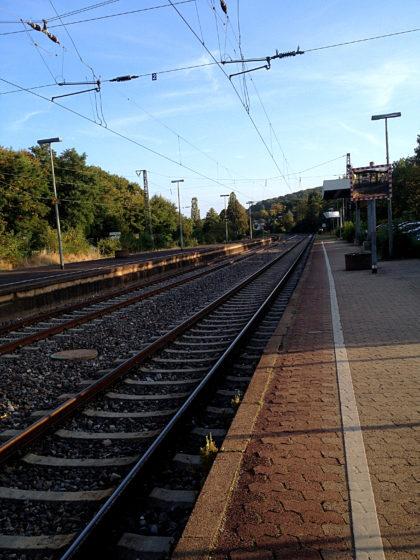 Bahnhof Ottweiler, das Ziel für heute