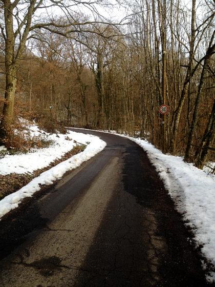 Die ersten zwei oder drei Kilometer geht es fast nur bergauf