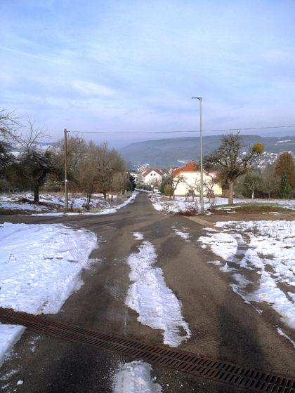 Auf dem Weg hinunter nach Limbach