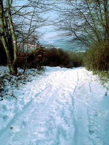 Der Schnee leuchtet, der Himmel leuchtet