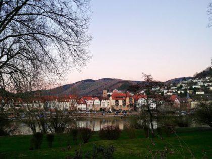 Blick auf die Innenstadt von Eberbach