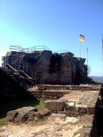 Die Ruine der Hohenburg bzw. ein Teil davon