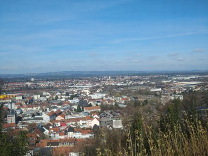 Blick von der Hohenburg auf Homburg
