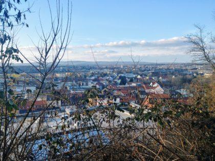 Blick auf Homburg von unterhalb der Hohenburg