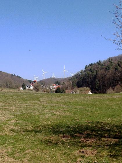 Blick auf Bechhofen, das bis zum Ende des 1. Weltkrieges zum Bezirksamt Homburg und damit zum Saarland gehörte