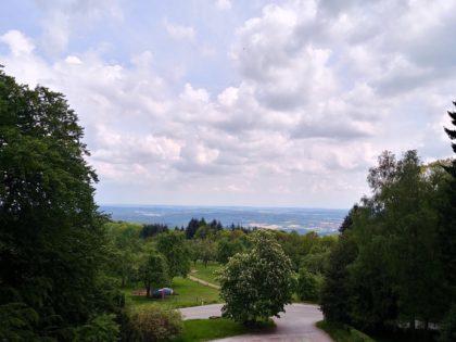Blick vom 15 Meter hohen Posseltslustturm weit ins Land
