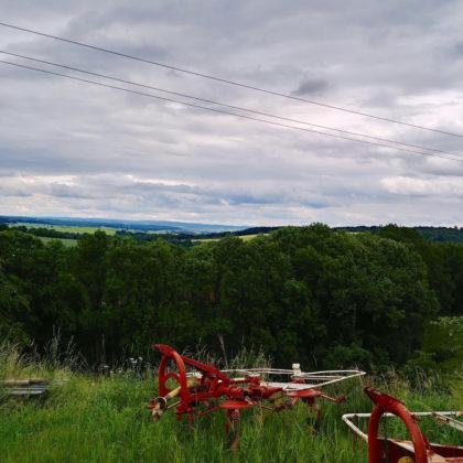 Stillleben mit landwirtschaftlichen Gerätschaften