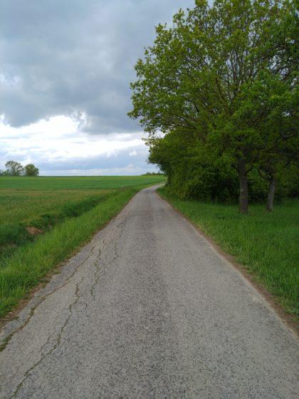 Wie auch immer, jedenfalls laufe ich noch ca. einen Kilometer...