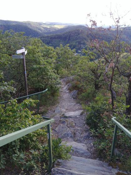 Wir beginnen mit dem Abstieg vom Goethepunkt