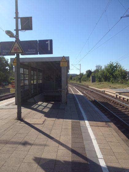 Der Bahnsteig in Besseringen