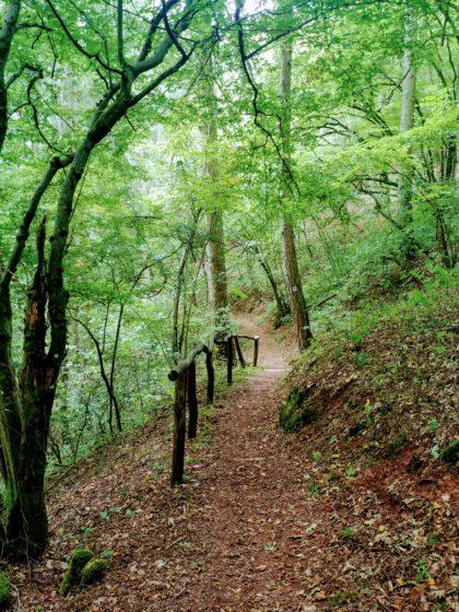 Wunderbare Passage den Hügel hinunter