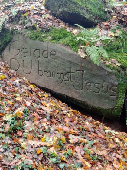 Am Horstbrunnen empfängt mich diese Botschaft