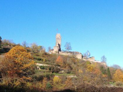 Blick hoch zur Wachtenburg