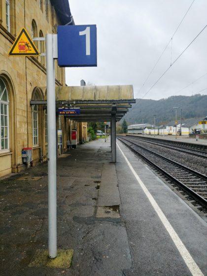 Am Bahnhof in Saarburg