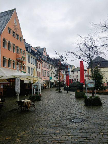 Menschenleer der Marktplatz