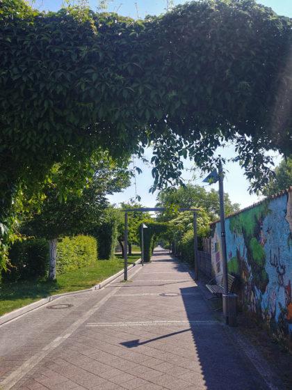 Weg zum Kurpark Bad Rappenau