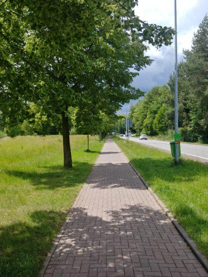 In Landsweiler-Reden - noch herrscht strahlender Sonnenschein