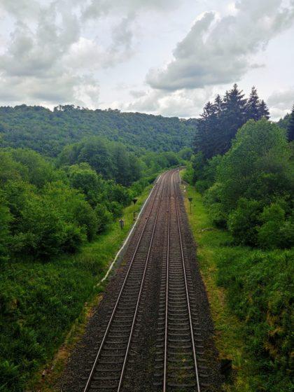 Die Bahnstrecke nach Idar-Oberstein bzw. Baumholder