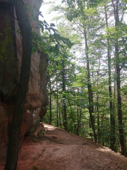 Der Krämerstein, ein 12 Meter hoher Felsen