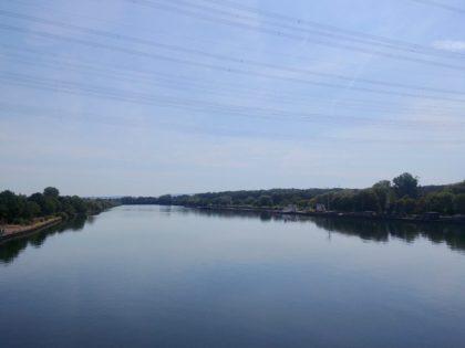 Überquerung der Schleusenbrücke