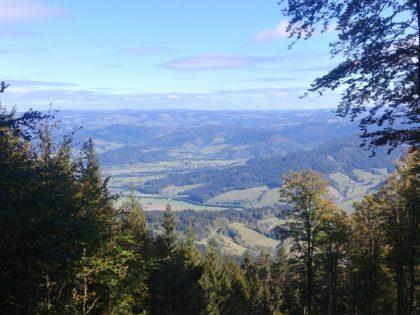Vereinzelt bieten sich noch solche Aussichten ins Tal