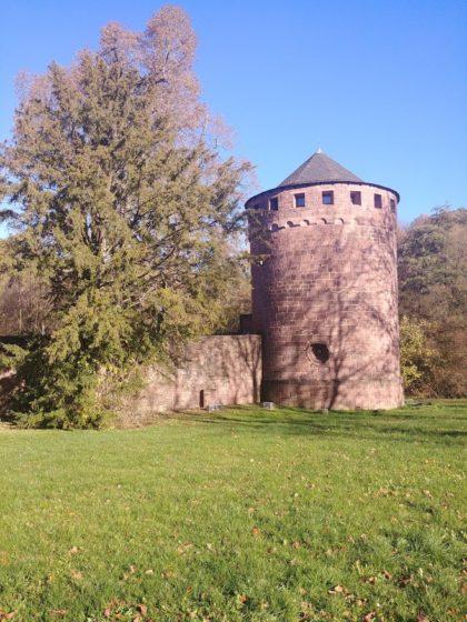 Überreste von Burg Kerpen in Illingen