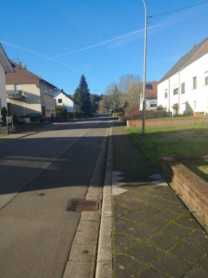 Bereits am Dorfende von Hüttigweiler