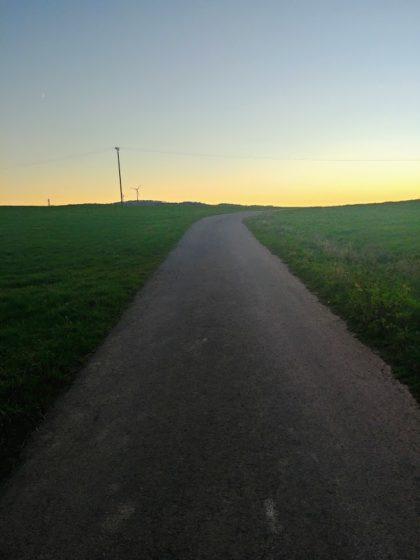Noch rund zwei Kilometer bis zum Finkenrech, dem Ziel der Tour