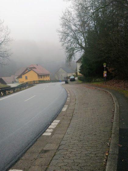 Die Landstraße zwischen Bergweiler und Leitzweiler