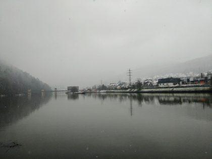 Blick zurück zur Schleusenbrücke