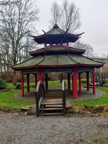 ... zum Asiatischen Garten an der Theel