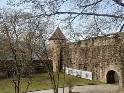 Das Hirschhorner Schloss, ursprünglich eine reine Burganlage