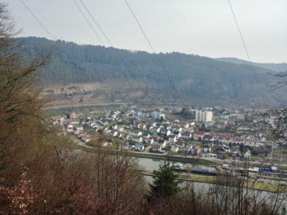 Wieder der Blick auf Ersheim und die Neckarschleife