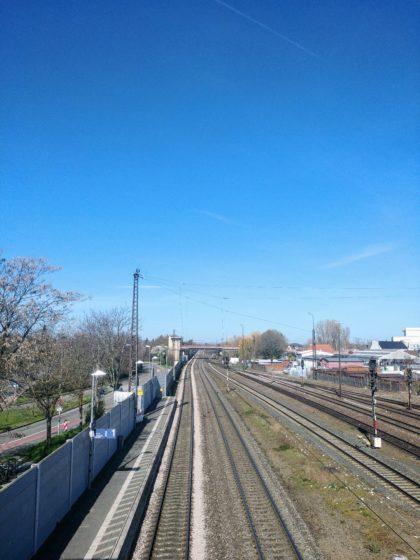 Start am Bahnhof Ludwigshafen-Oggersheim