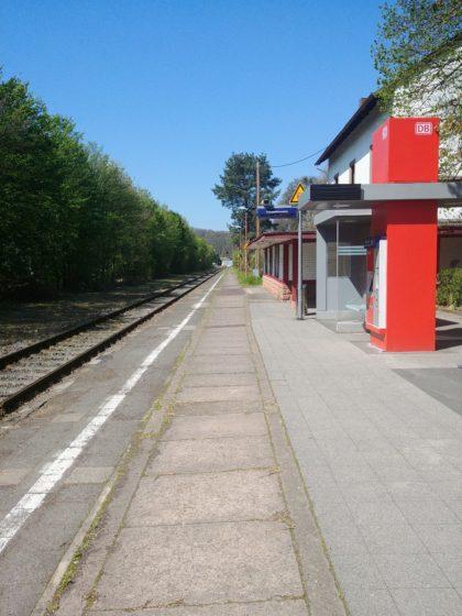 Start am Bahnsteig in Siersburg