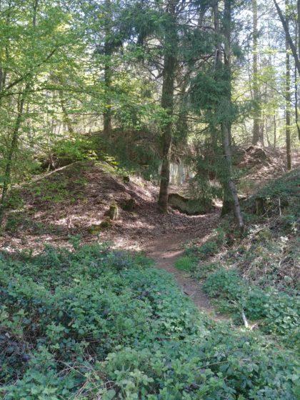 Am Wegrand ein Bunker des von den Nazis errichteten Westwalls