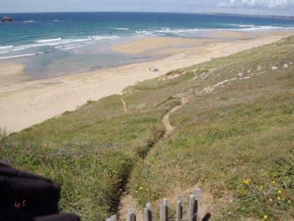Weg zum Strand, Crozon (Bretagne)/hans-peter schmücker