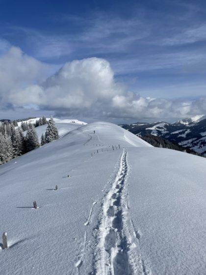 Winterpfad beim Schwarzsee, Schweiz/Piticave