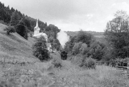 Dampflokomotive in Abrud, Siebenbürgen (Rumänien)/Foto von Christine R. Auer